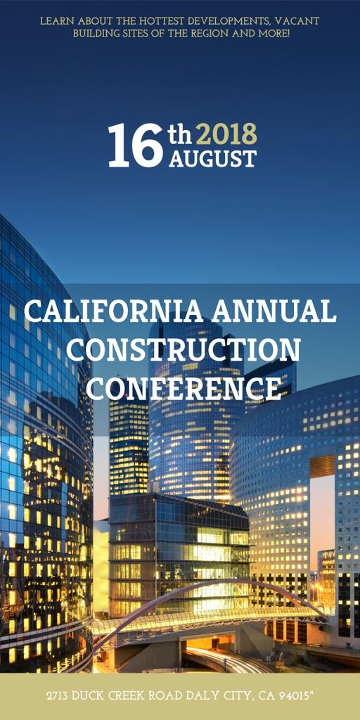 Annual construction conference announcement — Modelo de projeto