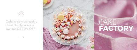 Modèle de visuel Special Offer with Sweet Pink Cake - Facebook Video cover