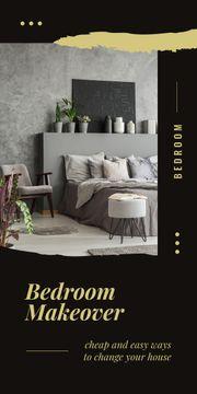 Cozy interior in grey colors