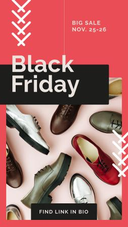 Black Friday Sale Stylish male shoes Instagram Story Modelo de Design