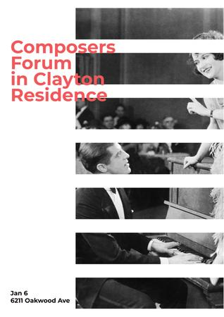 Composers Forum in Residence Poster Design Template