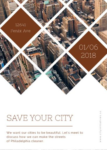 Urban Event Invitation With Skyscrapers View