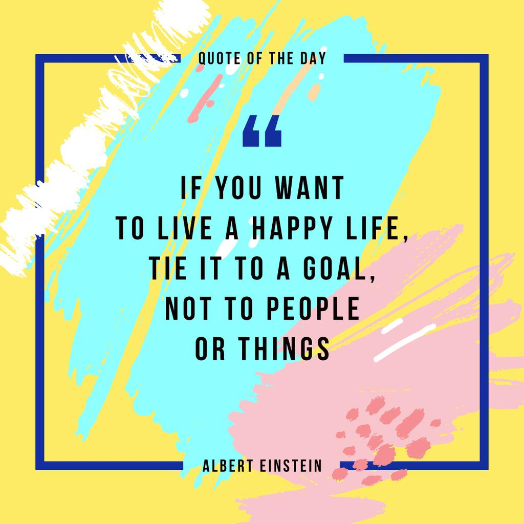 Inspirational Quote on Colorful Blots | Instagram Post Template — Crear un diseño