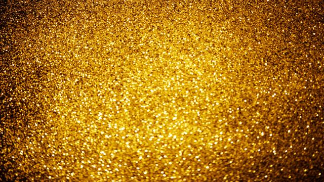 Plantilla de diseño de Gold shiny sequins Zoom Background
