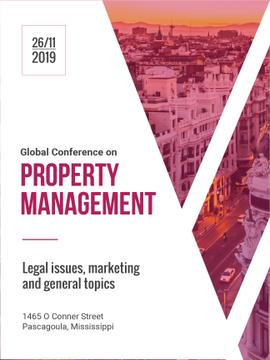 Property Management Conference City Street View | Poster Template