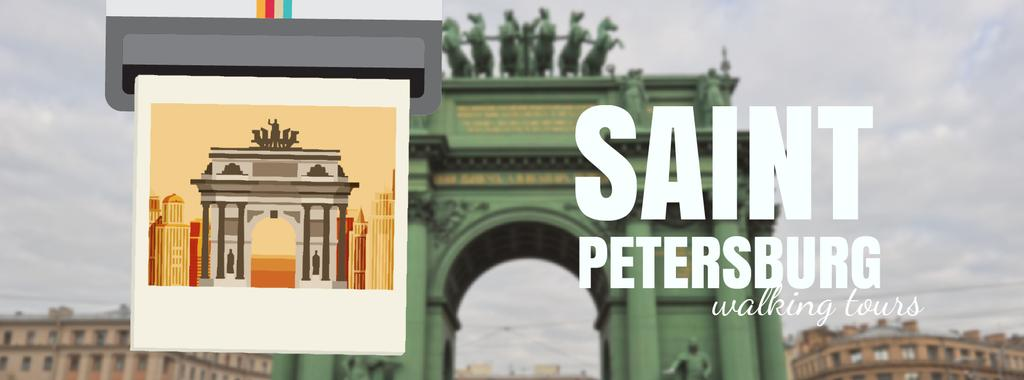 Saint Petersburg famous travelling spots — ein Design erstellen