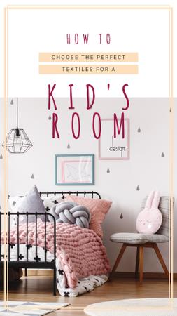 Cozy nursery interior Instagram Story – шаблон для дизайну
