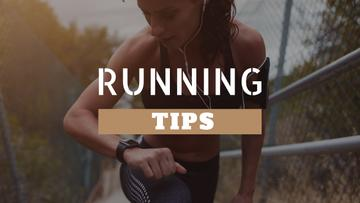 Running Tips Woman Running in City | Youtube Thumbnail Template