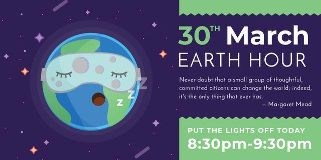 earth hour banner Image Modelo de Design