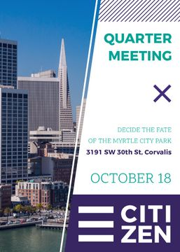 Quarter Meeting Announcement City View