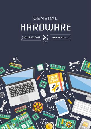 General hardware Ad Poster Design Template