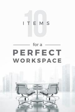 Items for perfect work space poster