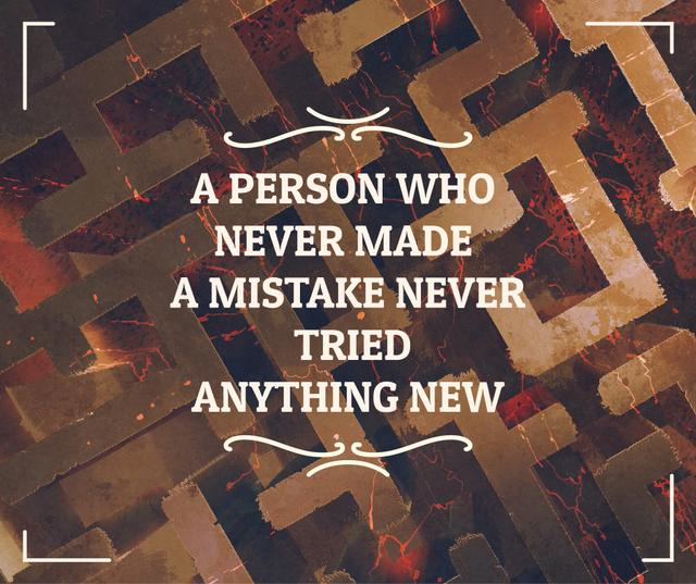 Motivational quote on Labyrinth Facebook – шаблон для дизайну