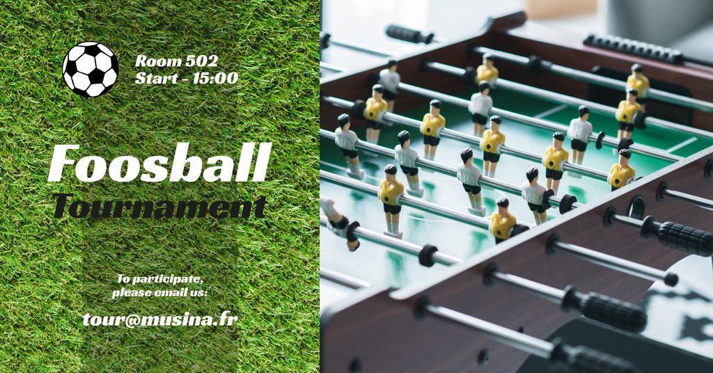Foosball Tournament Announcement — Создать дизайн