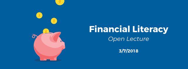 Designvorlage Coins filling piggy bank für Facebook Video cover