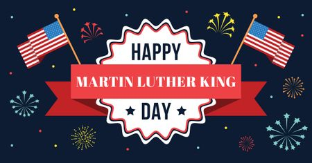 Modèle de visuel Martin Luther King day Greeting - Facebook AD