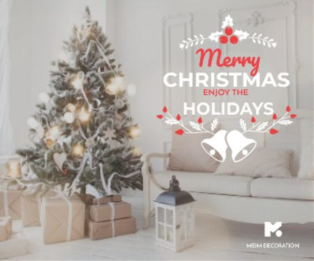 Template di design Merry Christmas card Large Rectangle