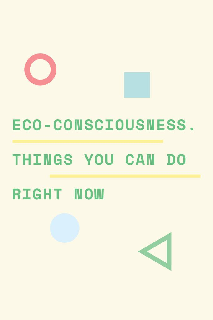 Eco-consciousness concept with simple icons — ein Design erstellen