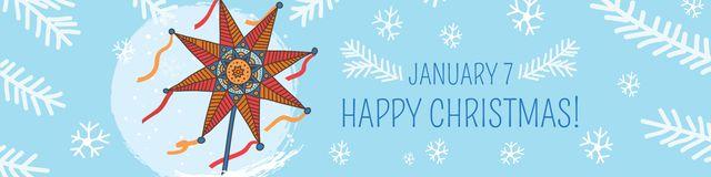 Modèle de visuel Happy Christmas Greeting - Twitter