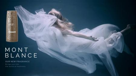 Plantilla de diseño de Perfume Ad Magical Woman Underwater Full HD video