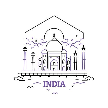Ontwerpsjabloon van Animated Post van India famous Travelling spots