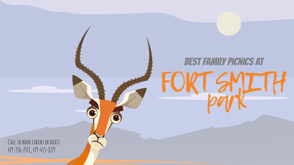 Nature Park Invitation Wild Antelope in Habitat | Full Hd Video Template — Modelo de projeto