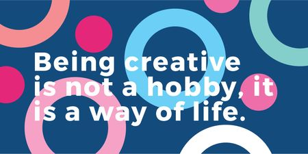 Plantilla de diseño de Citation about how be a creative Twitter