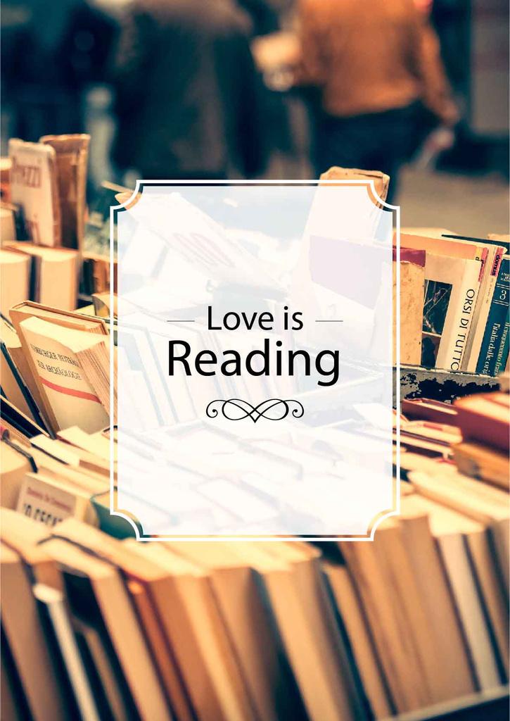 love is reading poster for bookstore — ein Design erstellen