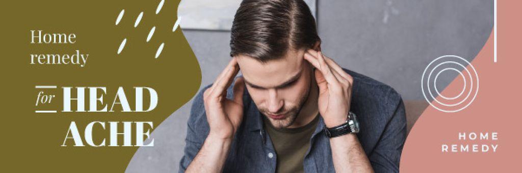 Man Suffering from Headache | Email Header Template — Créer un visuel