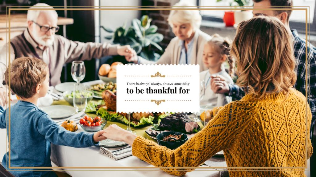 Family at Thanksgiving Dinner — Create a Design