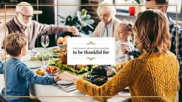 Family at Thanksgiving Dinner | Youtube Channel Art