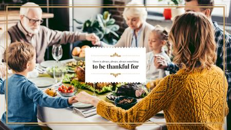 Template di design Family at Thanksgiving Dinner Youtube