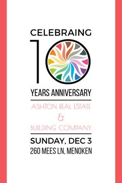 Celebrating 10 years anniversary invitation