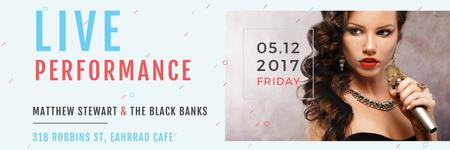 Plantilla de diseño de Matthew Stewart & The Black Banks live performance Twitter