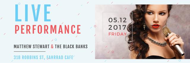 Plantilla de diseño de Matthew Stewart & The Black Banks live performance Twitter