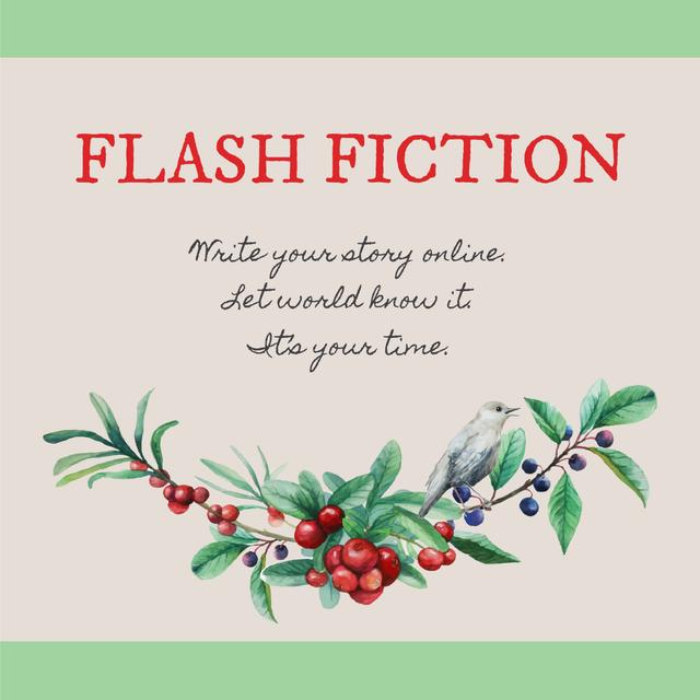 Flash fiction Inspiration with Tree branch Instagram – шаблон для дизайну