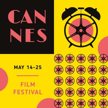 Cannes Film Festival Ad with Clock