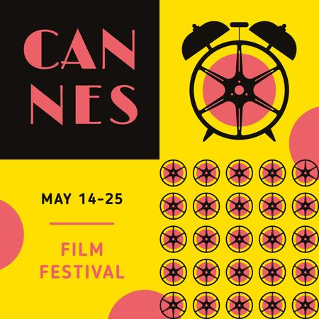 Cannes Film Festival Ad with Clock Instagram Modelo de Design