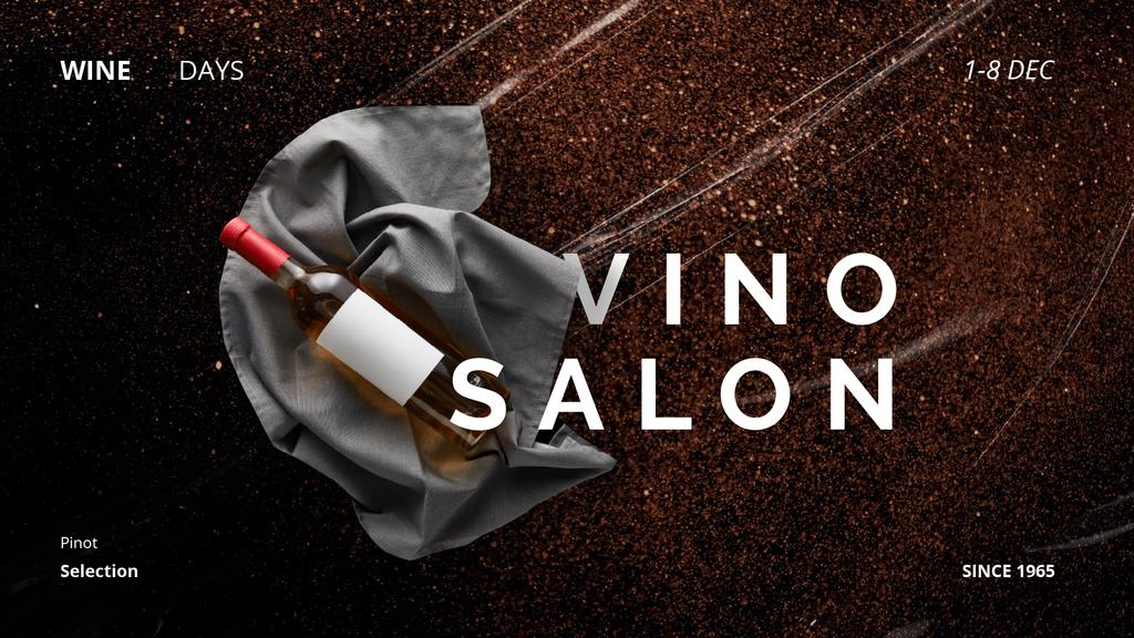 Wine Shop Ad with Bottle on Ribbon — Create a Design