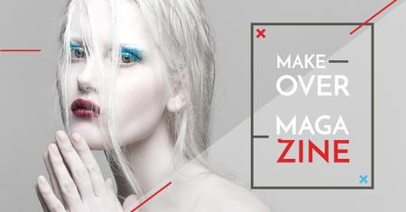 Szablon projektu Magazine Promotion with unusual Woman Facebook AD