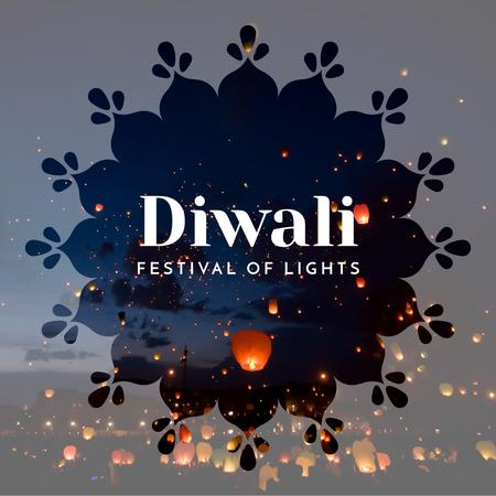Plantilla de diseño de Happy Diwali celebration Instagram