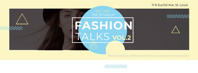 Template di design Fashion talks with Young attractive Woman Facebook cover