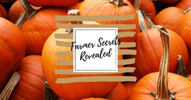 Plantilla de diseño de Pile of autumn pumpkins Facebook AD