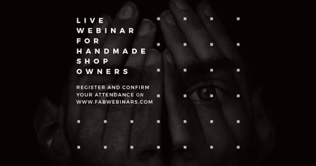 Live webinar for handmade shop owners Facebook AD Modelo de Design