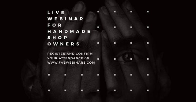 Live webinar for handmade shop owners Facebook AD Design Template