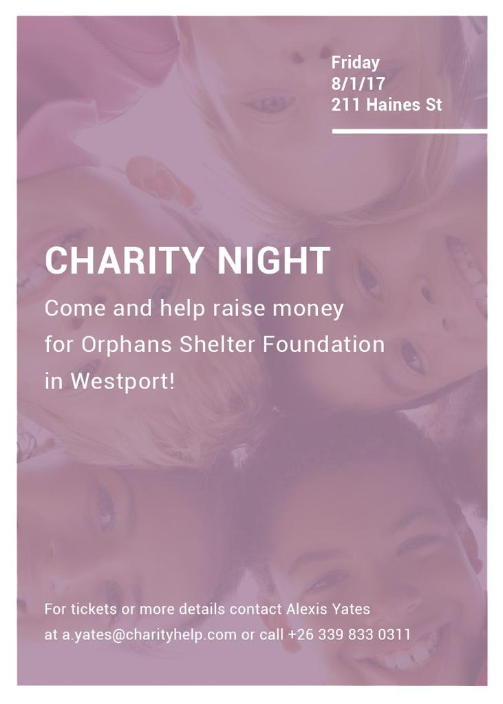 Happy kids in circle on Charity Night — Crear un diseño