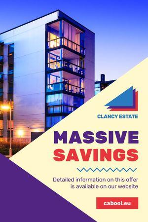 Plantilla de diseño de Real Estate Ad with Modern Building Tumblr