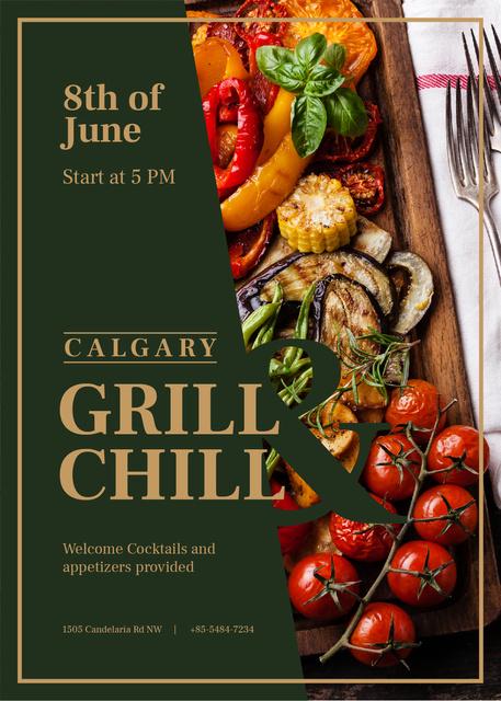 Plantilla de diseño de Grilled summer vegetables Invitation