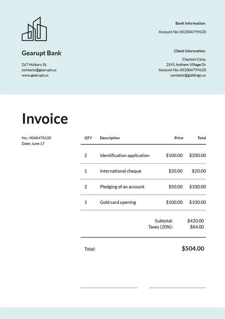 Bank Services on White —デザインを作成する