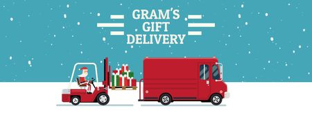 Plantilla de diseño de Santa Loading Gifts in Truck Facebook Video cover